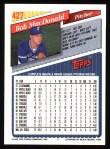 1993 Topps #427  Bob MacDonald  Back Thumbnail