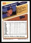 1993 Topps #569  Shawn Barton  Back Thumbnail