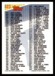 1993 Topps #823   Checklist 397-540 Back Thumbnail