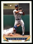 1993 Topps #14  Greg Briley  Front Thumbnail