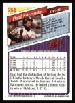1993 Topps #264  Paul Sorrento  Back Thumbnail