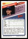 1993 Topps #468  Matt Whiteside  Back Thumbnail