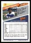 1993 Topps #26  Skeeter Barnes  Back Thumbnail