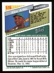 1993 Topps #516  Alex Arias  Back Thumbnail
