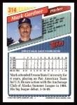 1993 Topps #314  Mark Gardner  Back Thumbnail