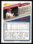 1993 Topps #421  Curt Schilling  Back Thumbnail