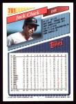 1993 Topps #781  Jack Clark  Back Thumbnail
