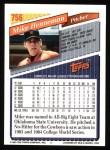 1993 Topps #756  Mike Henneman  Back Thumbnail