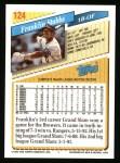 1993 Topps #124  Franklin Stubbs  Back Thumbnail