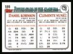 1993 Topps #599  Clemente Nunez  Back Thumbnail