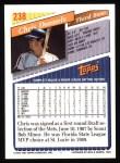 1993 Topps #238  Chris Donnels  Back Thumbnail