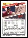 1993 Topps #121  Todd Worrell  Back Thumbnail