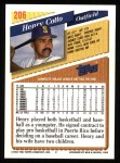1993 Topps #206  Henry Cotto  Back Thumbnail