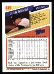 1993 Topps #646  Rich Scheid  Back Thumbnail