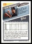 1993 Topps #175  Kirk McCaskill  Back Thumbnail