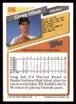 1993 Topps #246  Gregg Olson  Back Thumbnail