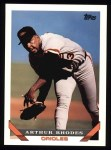 1993 Topps #554  Arthur Rhodes  Front Thumbnail