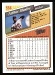 1993 Topps #554  Arthur Rhodes  Back Thumbnail