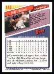 1993 Topps #143  Jeff Huson  Back Thumbnail