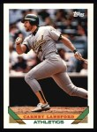 1993 Topps #127  Carney Lansford  Front Thumbnail