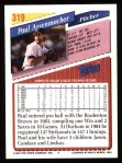 1993 Topps #319  Paul Assenmacher  Back Thumbnail