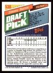 1993 Topps #538  Jimmy Baron  Back Thumbnail