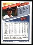 1993 Topps #649  Tom Marsh  Back Thumbnail
