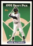1993 Topps #161  Chad McConnell  Front Thumbnail