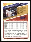 1993 Topps #102  Brian Hunter  Back Thumbnail