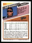 1993 Topps #631  Jeff Brantley  Back Thumbnail