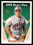 1993 Topps #518  Benji Grigsby  Front Thumbnail