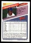 1993 Topps #731  Donald Harris  Back Thumbnail