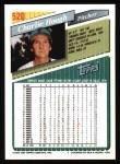1993 Topps #520  Charlie Hough  Back Thumbnail