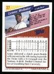 1993 Topps #37  Lenny Webster  Back Thumbnail