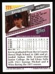 1993 Topps #771  Kevin Ritz  Back Thumbnail