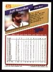 1993 Topps #475  Jeff Reardon  Back Thumbnail