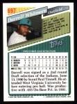 1993 Topps #697  Darrell Whitmore  Back Thumbnail