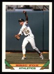 1993 Topps #46  Eric Fox  Front Thumbnail