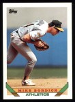 1993 Topps #639  Mike Bordick  Front Thumbnail