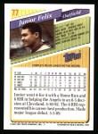 1993 Topps #77  Junior Felix  Back Thumbnail