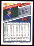 1993 Topps #596  Jimmy Key  Back Thumbnail