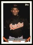 1993 Topps #587  Manny Alexander  Front Thumbnail