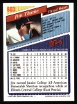1993 Topps #603  Jim Thome  Back Thumbnail