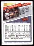 1993 Topps #322  Pat Borders  Back Thumbnail