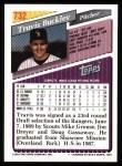 1993 Topps #732  Travis Buckley  Back Thumbnail