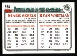 1993 Topps #558  Ryan Whitman  Back Thumbnail
