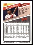 1993 Topps #386  Ray Lankford  Back Thumbnail