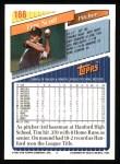 1993 Topps #166  Tim Scott  Back Thumbnail
