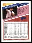 1993 Topps #373  Mike Morgan  Back Thumbnail