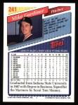 1993 Topps #241  Mike Gardiner  Back Thumbnail